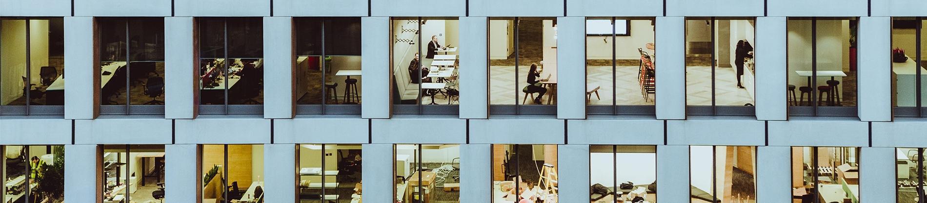 A row of Office windows