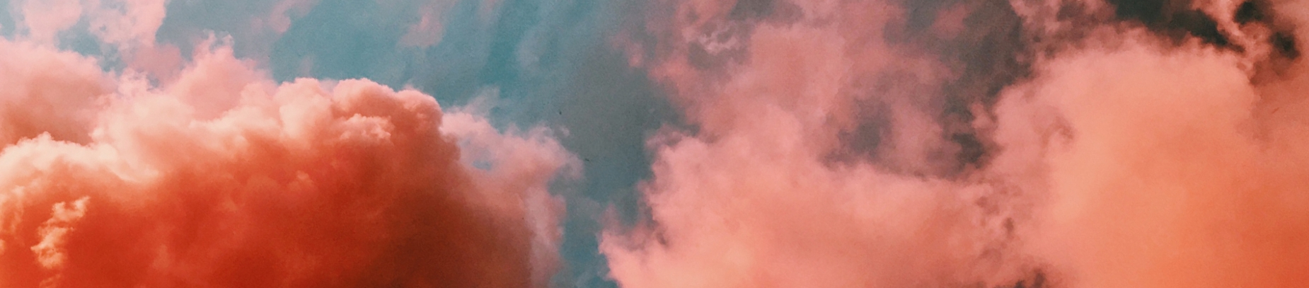 Pink and orange clouds in the sky