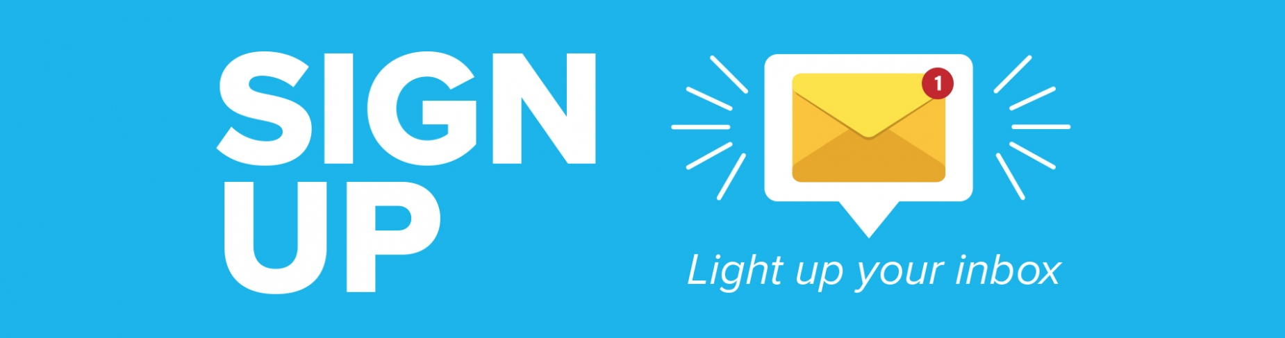 Sign up - Light up your inbox