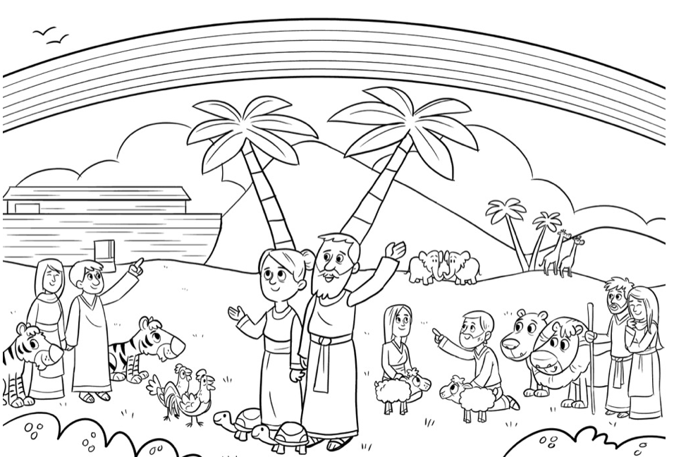 Bible App Colouring Sheets