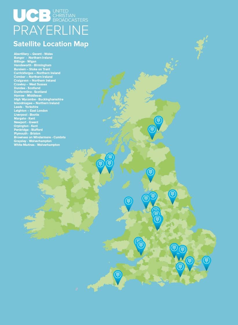 UCB Prayerline Satallite location map