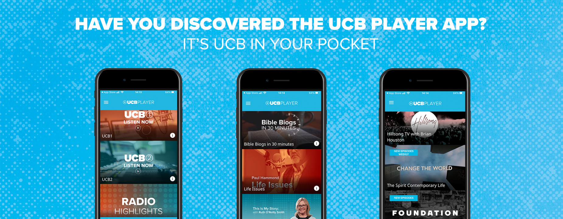 Have you discovered the UCB Player app? It's UCB in your pocket