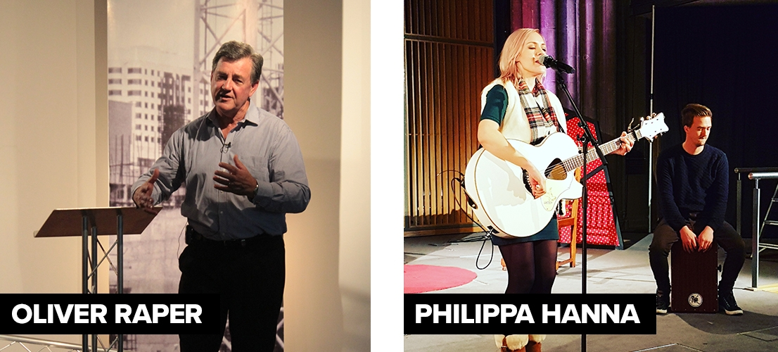 Philippa Hanna and  Pastor Oliver Raper