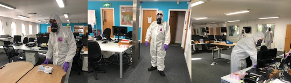 Professional deep clean of the Broadcast centre