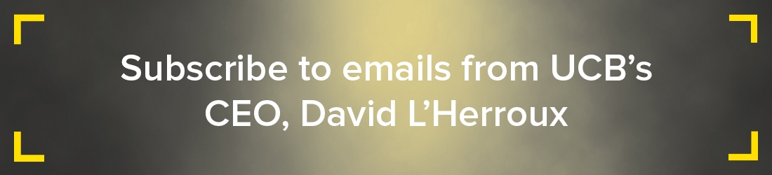 Subscribe to emails from UCB's CEO, David L'Herroux