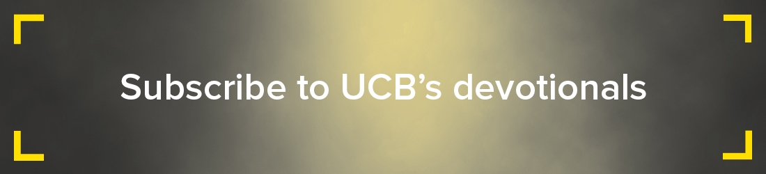 Subscribe to UCB's devotionals